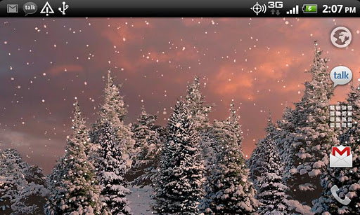 Snowfall Live Wallpaper - screenshot
