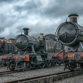 Side by Side by Steve Dormer - Transportation Trains