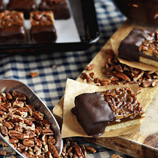 Chocolate-Dipped Pecan Bars