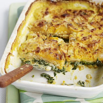 Sweet Potato & Spinach Bake