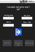Screenshot of VAT & Discount calc