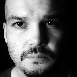 light me by Abraham Elizondo - People Portraits of Men ( face, faces, black and white, men, portrait, photography )
