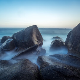 Silky rocks by Tony Milos - Nature Up Close Rock & Stone ( rocks sea, sea rock, asia, rocks )