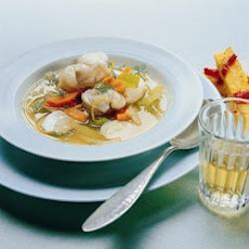 Fish Soup With Pepper Polenta