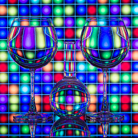 Glass & Graph.. by Rakesh Syal - Artistic Objects Glass