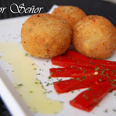 Piquillo Pepper and Tuna Belly Croquettes