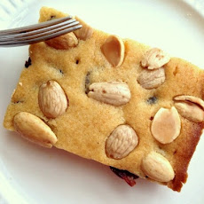 Cherry-Honey Blondies with Marcona Almonds