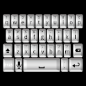 3D White Keyboard Skin icon