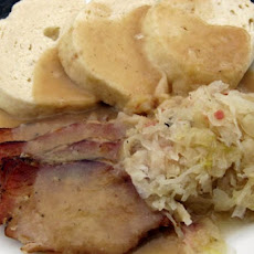 Sauerkraut, Dumplings, With Pigs Knuckles, Pork or Hot Dogs