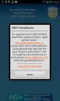 Screenshot of KBÜ Yemekhane