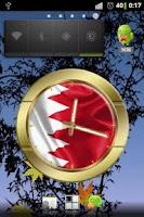 Screenshot of Bahrain flag clocks