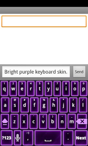 Bright Purple Keyboard Skin