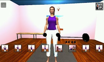 Screenshot of Arm 3D Workout Sets for Girls