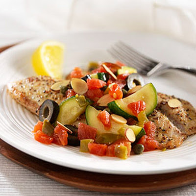 Pan-Fried Tilapia with Tomatoes and Toasted Almonds