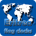 Eritrea flag clocks icon