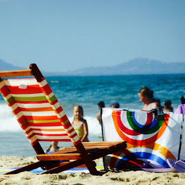 Beach Chair  by Colette Edwards - Artistic Objects Furniture ( peopel, beach, furniture )