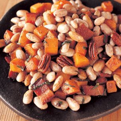 Shell Beans with Butternut Squash, Bacon and Sage