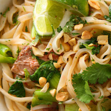 Seared Steak with Spicy Rice Noodles Recipe