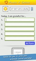 Screenshot of 'Moments of Gratitude' Journal