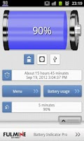 Screenshot of Battery Indicator Pro