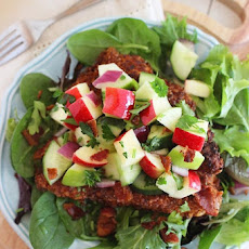 Crispy Chicken Salad with Apples and Bacon