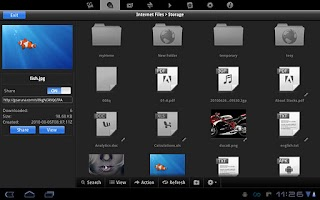 Screenshot of File Manager for Tablets
