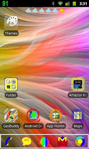 Rainbow Theme go launcher ex