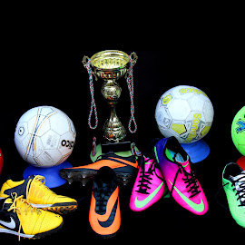 by Simon Fenrir-Rainy - Artistic Objects Clothing & Accessories ( trophy, football, trainers, boots )