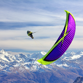 Paraglider by Michael Schwartz - Sports & Fitness Other Sports ( paragliding, sport, fun, peaks, alps )