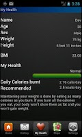 Screenshot of Fitness Tracker Free