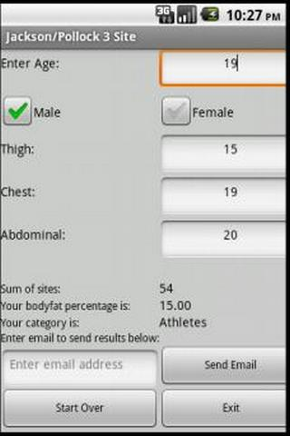 FTT 3 Site Body Fat Calculator