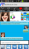 Screenshot of Bot World AI Chat Friend
