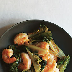 Shrimp and Romaine Stir-Fry