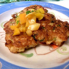 Shrimp Corn Cakes With Citrus Chile Salsa