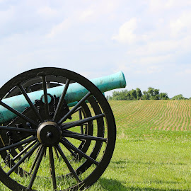 Antietam by Amber Powell - City,  Street & Park  Historic Districts ( battlefield, antietam, cannon )