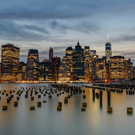 Lower Manhattan by Cliffie Scott-Williams - City,  Street & Park  Skylines