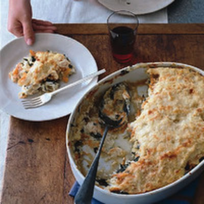 Potato, Spinach and Goat Cheese Gratin
