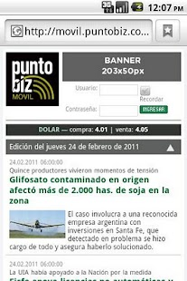 PuntoBiz - screenshot