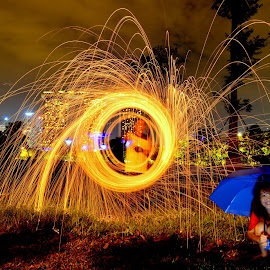 Taking shelter by Jeffrey Fok - Abstract Light Painting