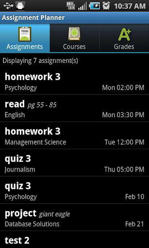 Assignment Planner PRO