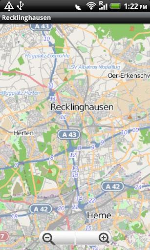 Recklinghausen Street Map