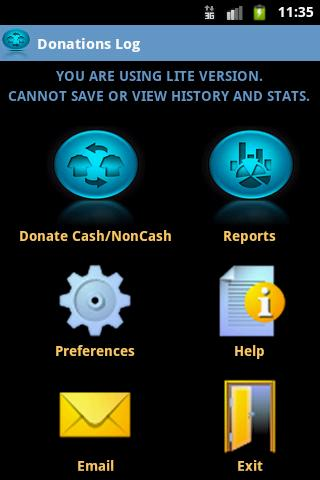Charitable Donations Log Lite