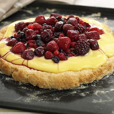 Fruit Custard Shortcake