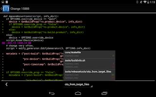 Screenshot of mGerrit