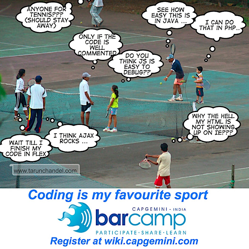 Barcamp Capgemini Coding is my Favourite Sport, Tarun Chandel Photoblog