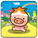 Cute little pig Full Theme icon