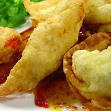 Chicken and Goat Cheese Wontons