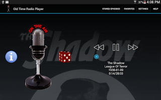 Screenshot of Old Time Radio Player