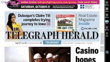 Screenshot of Telegraph Herald