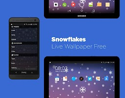 Screenshot of Snowflakes Live Wallpaper HD